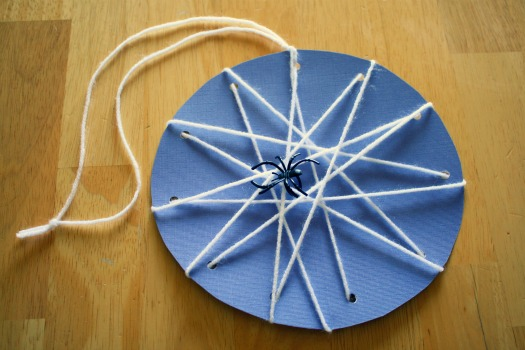 Lacing Spider Webs - Make and Takes