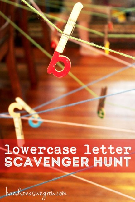 Lowercase Letter Scavenger Hunt - Hands on as we Grow