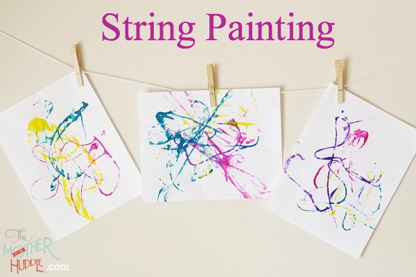 String Painting - The Mother Huddle