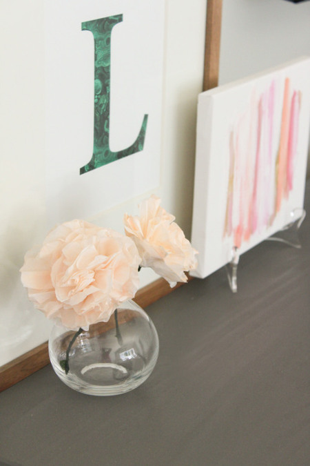 DIY Coffee Filter Flowers. Tutorial at ThinkCrafts.com