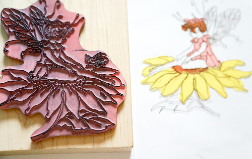Rubber Stamp and Paint