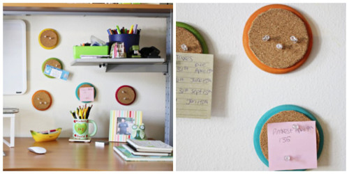 DIY Mini Memo Cork Boards with the Trashy Crafter - ThinkCrafts.com