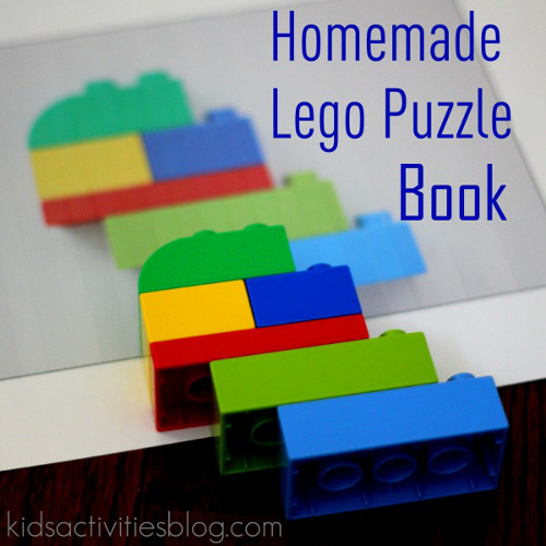 Homemade Lego Puzzle Book - Kids Activities Blog