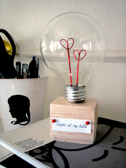 How to Make a Valentine Lightbulb - Apartment Therapy