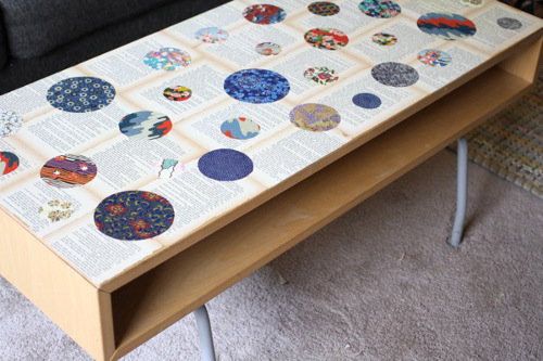 Book Page and Washi Paper Coffee Table with the Trashy Crafter - ThinkCrafts.com