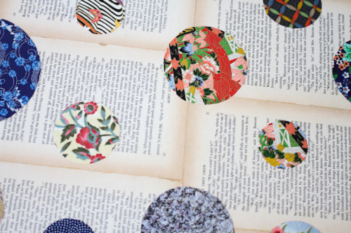 Washi Paper over Book Pages