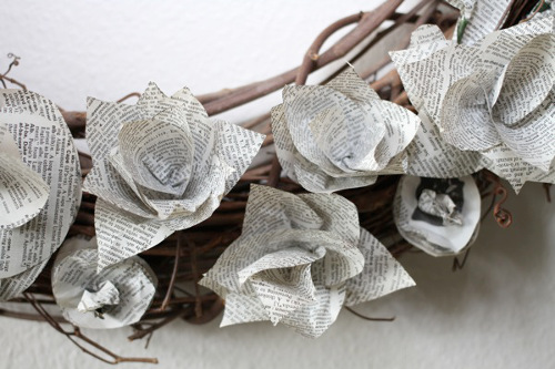 Dictionary Page Paper Flowers