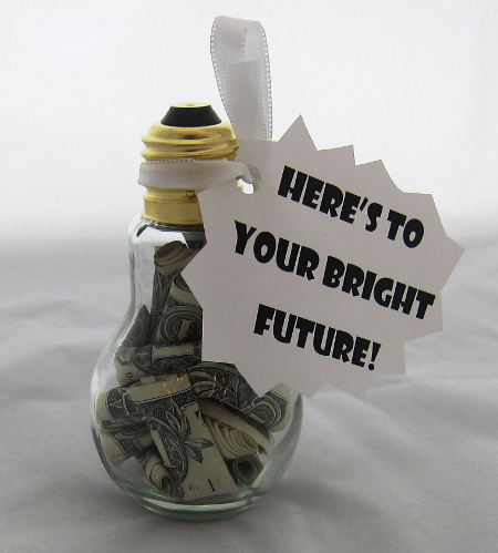 Delightful Light Bulb Money Holder   Good Housekeeping Good Looking