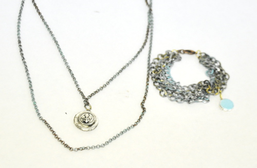 Mixed Metal Necklace and Bracelet with Martha Stewart Jewelry Line