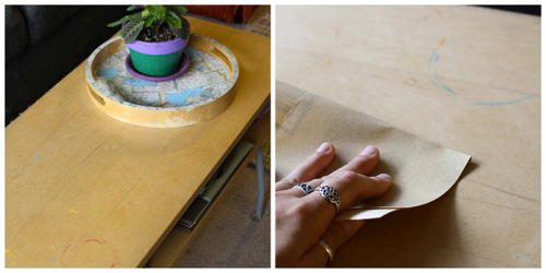 Recycled-book-pages-washi-paper-vintage-coffee-table-diy-how-to-craft-trashy-crafter-1