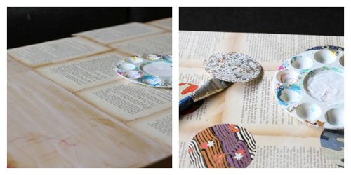 Recycled-book-pages-washi-paper-vintage-coffee-table-diy-how-to-craft-trashy-crafter-3