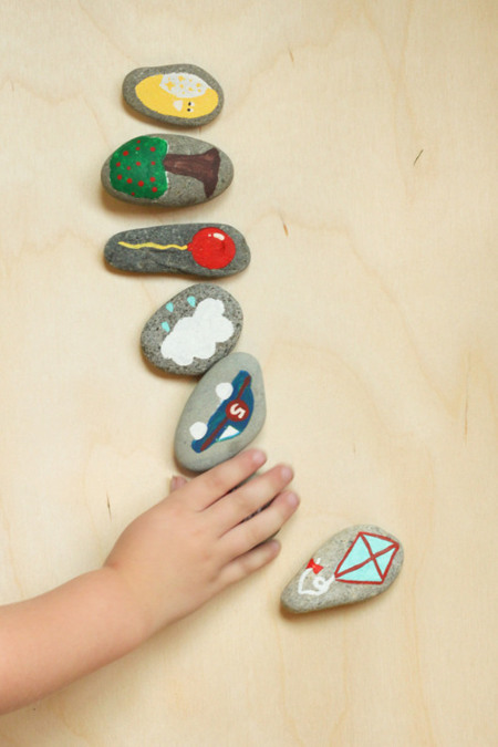 Beautifully Simple DIY toy- Story Stones from ThinkCrafts.com