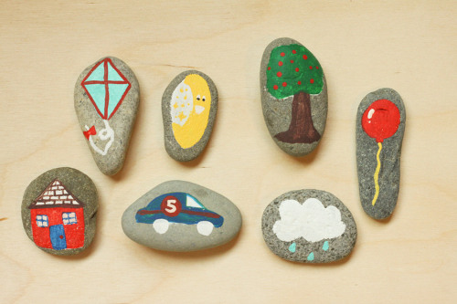 Diy story stones think crafts by createforless for Crafts using stones
