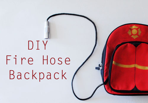 DIY Fireman Hose Backpack Tutorial at ThinkCrafts.com