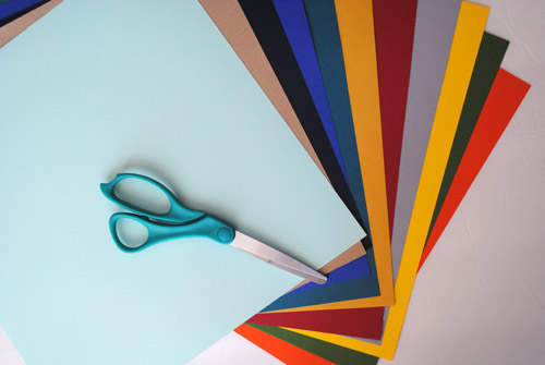 2 -various colors of cardstock