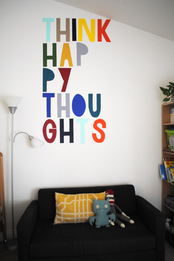 Think Happy Thoughts Wall Art - ThinkCrafts.com