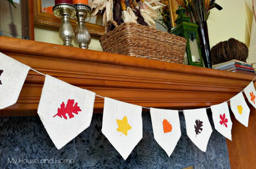 DIY Fall Burlap Banner - ThinkCrafts.com
