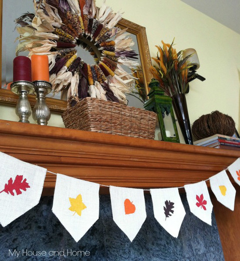 DIY Tutorial for a Fall Burlap Banner from ThinkCrafts.com