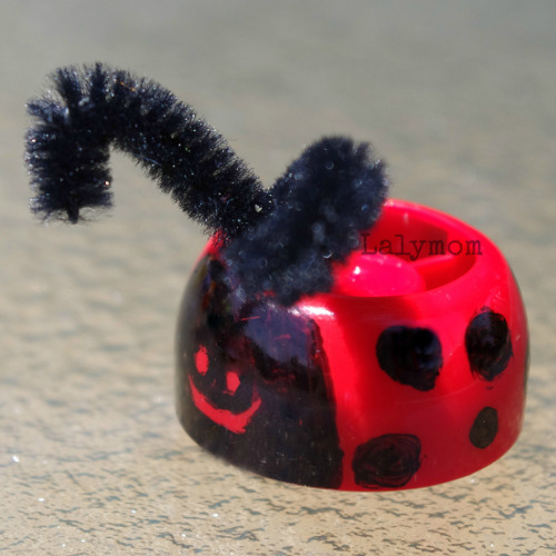 Ladybug Finger Puppet from Lalymom Watermark