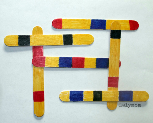 Mondrian for Kids Pattern Sticks from lalymom Watermark
