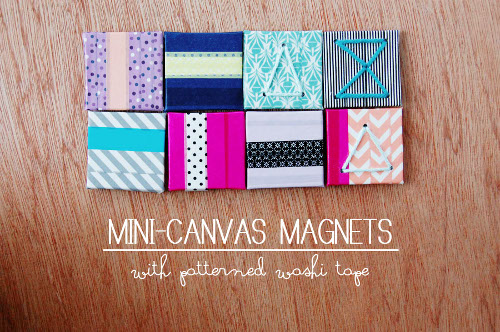Mini Canvas Washi Mangets - Tutorial at ThinkCrafts.com