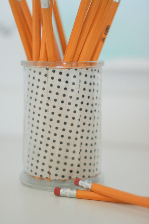 DIY Scrap Fabric Pencil Holder - ThinkCrafts.com