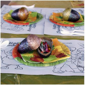 Acorn Box Thanksgiving Place Setting