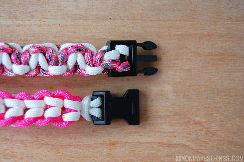 Pink Paracord Buckle Bracelets for Breast Cancer Awareness