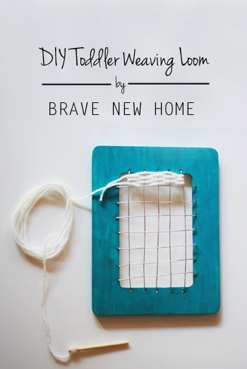 DIY Toddler Weaving Loom by Brave New Home