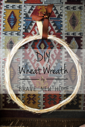 DIY Wheat Wreath