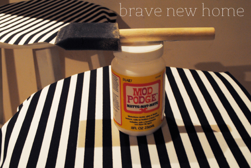Mod Podge Bar Stool Makeover