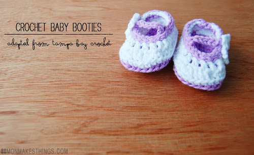 Crochet Baby Booties Adapted Pattern