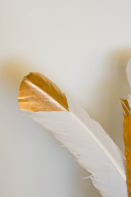 Golden Feather Decor Craft
