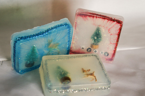 Winter Scene Soap