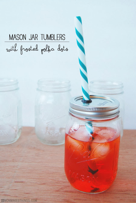 Frosted Mason Jar Tumblers