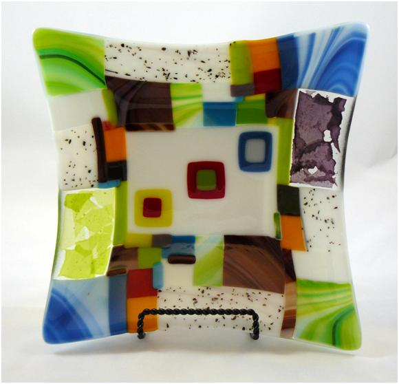 Hip to be Square Glass Bowl