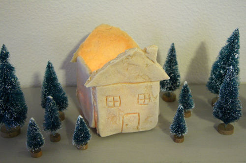 Salt Dough Christmas House