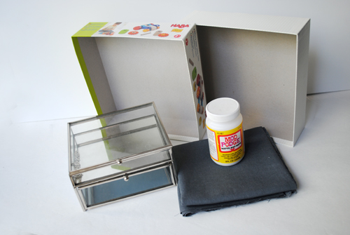 1.5 - materials for linen lined jewelry box