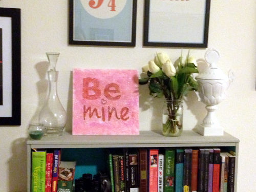 """Be Mine"" Valentines Glitter Art"