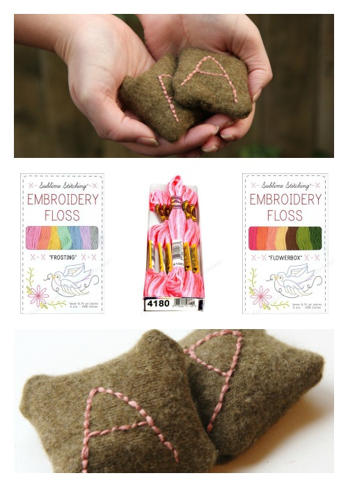 Upcycled Embroidered Hand Warmers