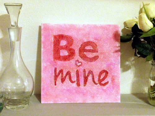 """Be Mine"" Valentine's Day Glitter Art"