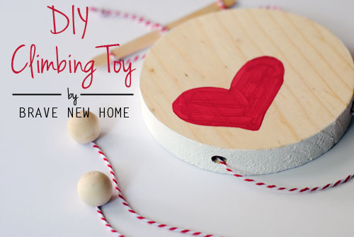 Wooden Climbing Heart Toy
