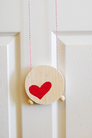 Valentine's Day Wooden Climbing Toy