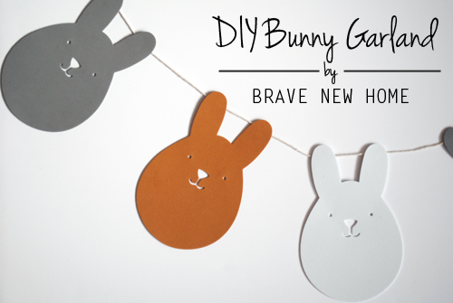 DIY Bunny Garland - Brave New Home