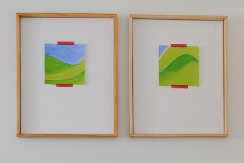 6 - pair of mountains art