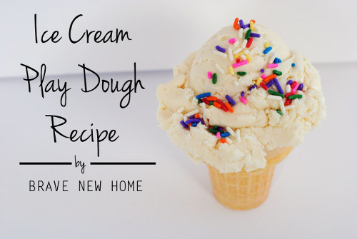 3 Ingredient Ice Cream Play Dough Recipe by Brave New Home
