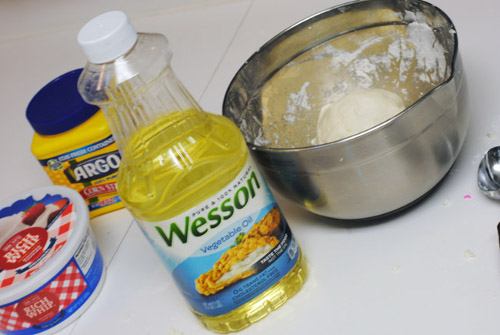 5 - adding vegetable oil