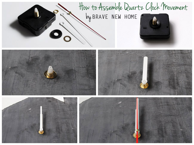 8 - How to Assemble Quartz Clock Movement - Brave New Home