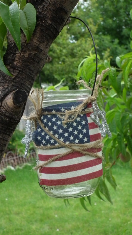 Stars and Stripes Mason Jar Lantern