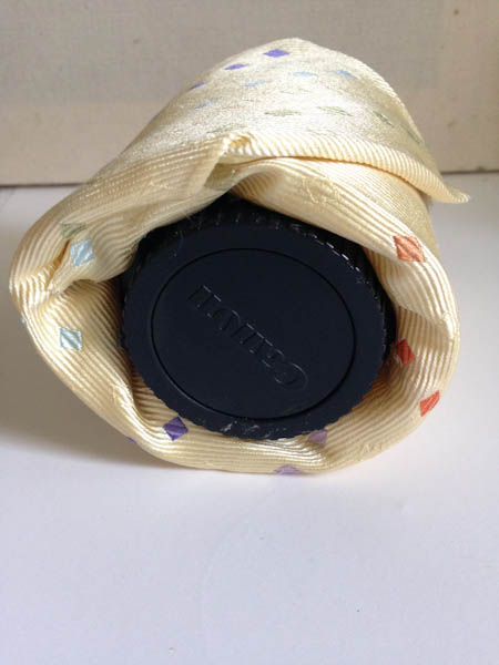 DIY Camera Lens Wrap from an Old Tie